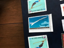 COREA DEL NORD IL CONCORDE AIR FRANCE - Stamps