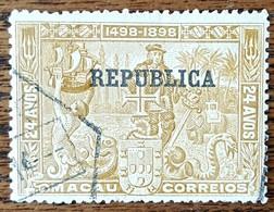 Portugal-Macao: Timbre N° 172 (YT)  Oblitéré, Charnière - Macao