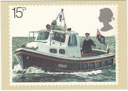 POLICE - River Patrol - Policeman On Policeboat - (England, 1979) - Politie-Rijkswacht