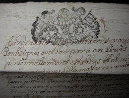 1713 Généralité De Poitiers (Niort), Joli Cachet Sur Document De 6 Pages écrites à Déchiffrer. - Manuscripts