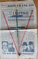 F - Journal Alsacien: Le Nouveau Rhin Français - 2 Journaux: 8  Et 9 Mai 1945 - Victoire, Libération, Croix De Lorraine - Journaux - Quotidiens