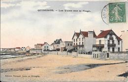 Cpa 56 Quiberon , Les Villas Sur La Plage , écrite 1916 - Quiberon
