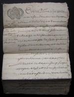 1686 Généralité De Poitiers, Plusieurs Cachets Sur Document De 6 Pages écrites Concernant Pierre Espezolle - Manuscripts