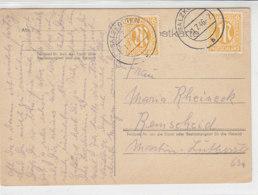 Karte Mit AM-Post Marken Aus SALZKOTTEN 1.7.46 Nach Remscheid - Bizone