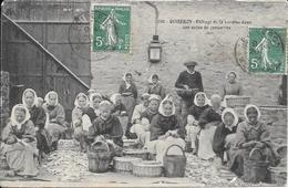 Cpa  56  Quiberon , Etêtage De La Sardine , écrite 1910 - Quiberon