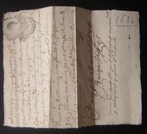 1686 Généralité De Poitiers, Petit Billet Avec Cachet - Manuscrits