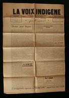 ( Algérie Constantine ) Journal LA VOIX INDIGENE Union Franco-Musulmane 1930 ZENATI - Newspapers