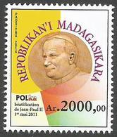 Madagascar Madagaskar 2015 Mi. 2682 Pape Pope Papst Jean Paul II John Beatification MNH - Madagaskar (1960-...)
