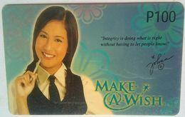 PLDT Make  A Wish 100 Pesos MINT - Philippines