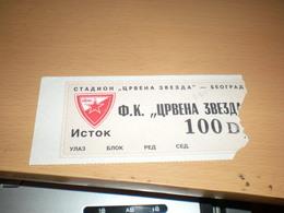 Football Crvena Zvezda - Lottery Tickets