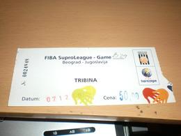 FIBA Suproleague Game Beograd Jugoslavija - Lottery Tickets