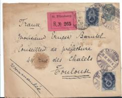 Rl012 / RRR,  Russland, Einschreiben Der Belg. Legation In St. Petersburg 1899 Nach Frankreich, Prov. R-Zettel - 1857-1916 Imperium