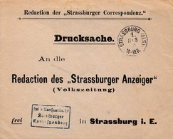 Env Frei Lt Aversum Nr 19 / Straßurger / Correspondenz Obl STRASSBURG (ELS) 1. E Du 11.3.89 Pour Strasbourg - Marcofilia (sobres)