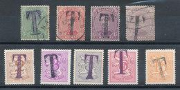 Belgique - Lot De 9 Timbres-taxe - Postzegels
