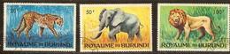 Burundi 1964 Yvertn° 92-94 (°) Oblitéré Used Cote 2,55 Euro Faune Sauvage - Burundi