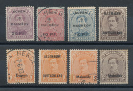 Belgique - Lot De 8 Timbres Avec Surcharges Diverses - [OC55/105] Eupen/Malmédy