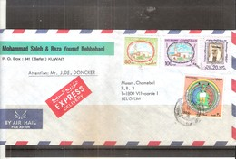 Express Cover From Koweit To Belgium - 1985 (to See) - Koweït