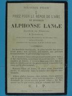 Alphonse Lange Docteur En Médecine Et Brasseur Frasnes-lez-Mariembourg 1897 - Images Religieuses