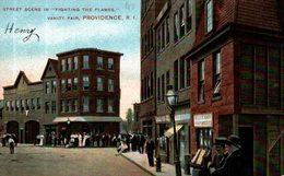 STREET SCENE IN FIGHTING THE FLAMES VANITY FAIR PROVIDENCE - Providence