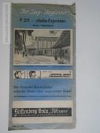 ZA117.9 Timetable  F211 Italia Express Roma Kobenhavn - 1966 - DB  Heavy Usage - Europe