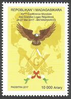 Madagascar Madagaskar 2017 XVème Conférence Mondiale Grandes Franc-maçons Freimaurer Freemasonry MNH Mint - Madagascar (1960-...)