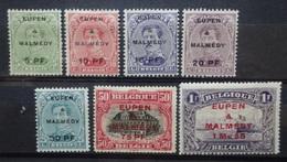 BELGIE  Bezetting  1920    OC  55 - 61  Scharnier *    CW  52,00 - [OC55/105] Eupen/Malmedy