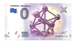 ATOMIUM BRUXELLES  (billet 0 Euro)  2018 /  2 - EURO