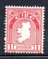 R1494 - IRLANDA 1922 , 1 P. Carminio N. 41 ** - 1922-37 Irish Free State