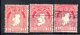 R1512 - IRLANDA 1922 , 1 P. Tre Valori Usati - 1922-37 Stato Libero D'Irlanda
