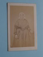 DAME - FEMME - FRAU - WOMAN ( Old / Vieux CDV Photo : Alph. SCHEFFERMEYER Malines Belgique ) +/- 1900 ! - Photos