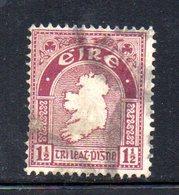 R1518 - IRLANDA 1922 , 1 1/2 P. N. 42  Usato - Usati