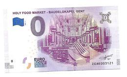HOLLY FOOD MARKET  BAUDELOKAPEL  GENT  (billet 0 Euro)   2018 . 1 - EURO