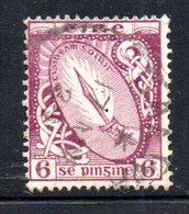 R1515 - IRLANDA 1922 , 6 P. N. 48  Usato - 1922-37 Stato Libero D'Irlanda