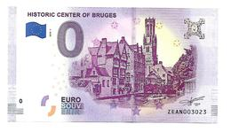 HISYORIC CENTER OF BRUGES  (billet 0 Euro)   2018 . 1 - EURO