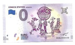COMICS STATION    B D  (billet 0 Euro)   2018 . 1 - EURO