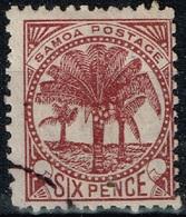 Samoa - 1887 - ,Y&T N° 14 B, Dentelé 12 1/2 - Samoa