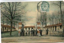 SEVRAN(CASERNE) CARTE EN COULEUR TOILEE - Sevran
