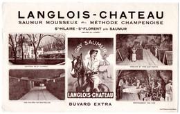 Buvard Langlois-Chateau. Saumur Mousseux, St.Hilaire St.Florent Près Saumur. - Blotters