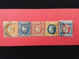 ROMANIA 1869 - Principe Carlo Timbrati - N. 25 Siglato A. Diana - N. 21 Spellato Non Calcolato + Spese Postali - 1858-1880 Moldavia & Principato
