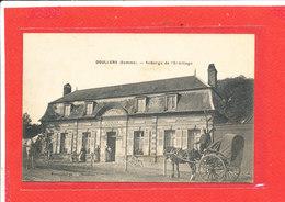 80 DOULLENS Cpa Animée ATTELAGE Auberge De L ' Ermitage Cailly Aubergiste      Edit Simonnin - Doullens