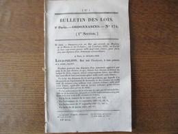BULLETIN DES LOIS N°174 14 AOUT 1832 CONSTRUCTION D'UN PONT SUR L'YONNE ENTRE SAINT JULIEN DU SAULT ET VILLEVADIER PEAGE - Decrees & Laws