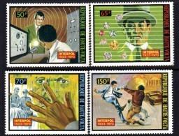 Haute Volta N° 296 / 99  XX 50ème Anniversaire D'Interpol.  Les 4 Valeurs Sans Charnière TB - Upper Volta (1958-1984)
