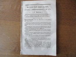 BULLETIN DES LOIS N°175 14 AOUT 1832 ORDONNANCE DU ROI ETABLISSEMENT D'UN MONT DE PIETE DANS LA VILLE DE CALAIS - Decrees & Laws