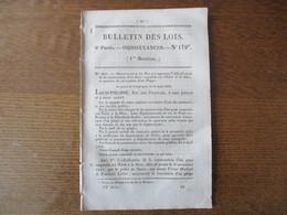 BULLETIN DES LOIS N°179 14 SEPTEMBRE 1832 CONSTRUCTION D'UN PONT SUSPENDU SUR L'ISERE A LA SAÔNE,PONT SUR LE TARN,LA MOS - Decrees & Laws