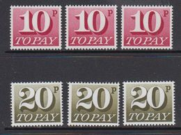 Great Britain 1970 Postage Due 2v 3x  ** Mnh (41289S) - Strafportzegels