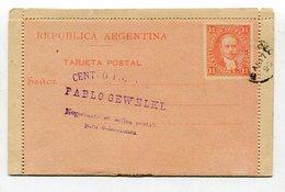 Argentinien / 1890 / Kartenbrief O (27026) - Ganzsachen