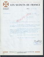LETTRE DE 1966 LES SCOUTS DE FRANCE ( SCOUTISME ) QUARTIER GÉNÉRAL ECRTE DE PARIS RUE DE DANTZIC : - Scoutisme