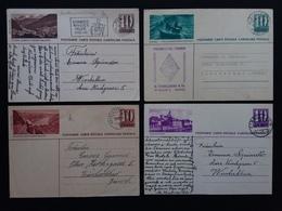 SVIZZERA - 4 Cartoline Postali Anni '40 Viaggiata + Spese Postali - Svizzera
