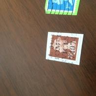INGHILTERRA REGINA MARRONE - Stamps