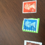INGHILTERRA REGINA AZZURRO - Stamps